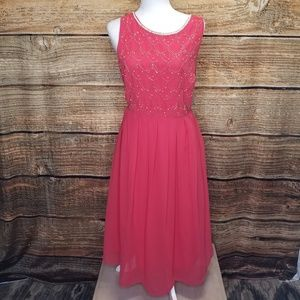 Modcloth Coral Prom Dress with Pockets 1X